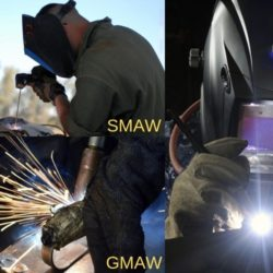 Difference between SMAW, GMAW and GTAW welding