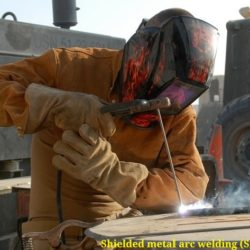 Shielded metal arc welding (SMAW) process