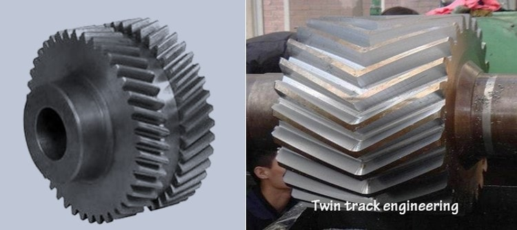 Differences between herringbone gear and double helical gear