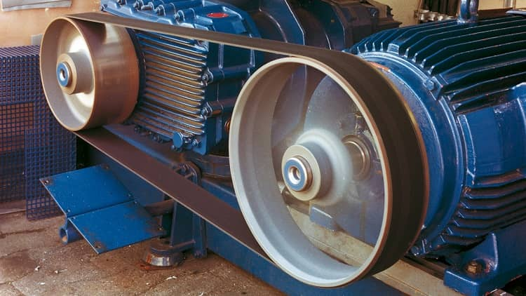 Typical flat belt drive