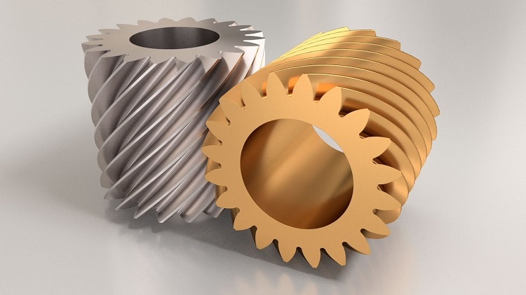 Typical crossed helical gear